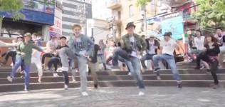"""《大阪の中心""""アメ村""""をロックにジャック!》Hilty&Boschと愉快で楽しい仲間たち♪"""
